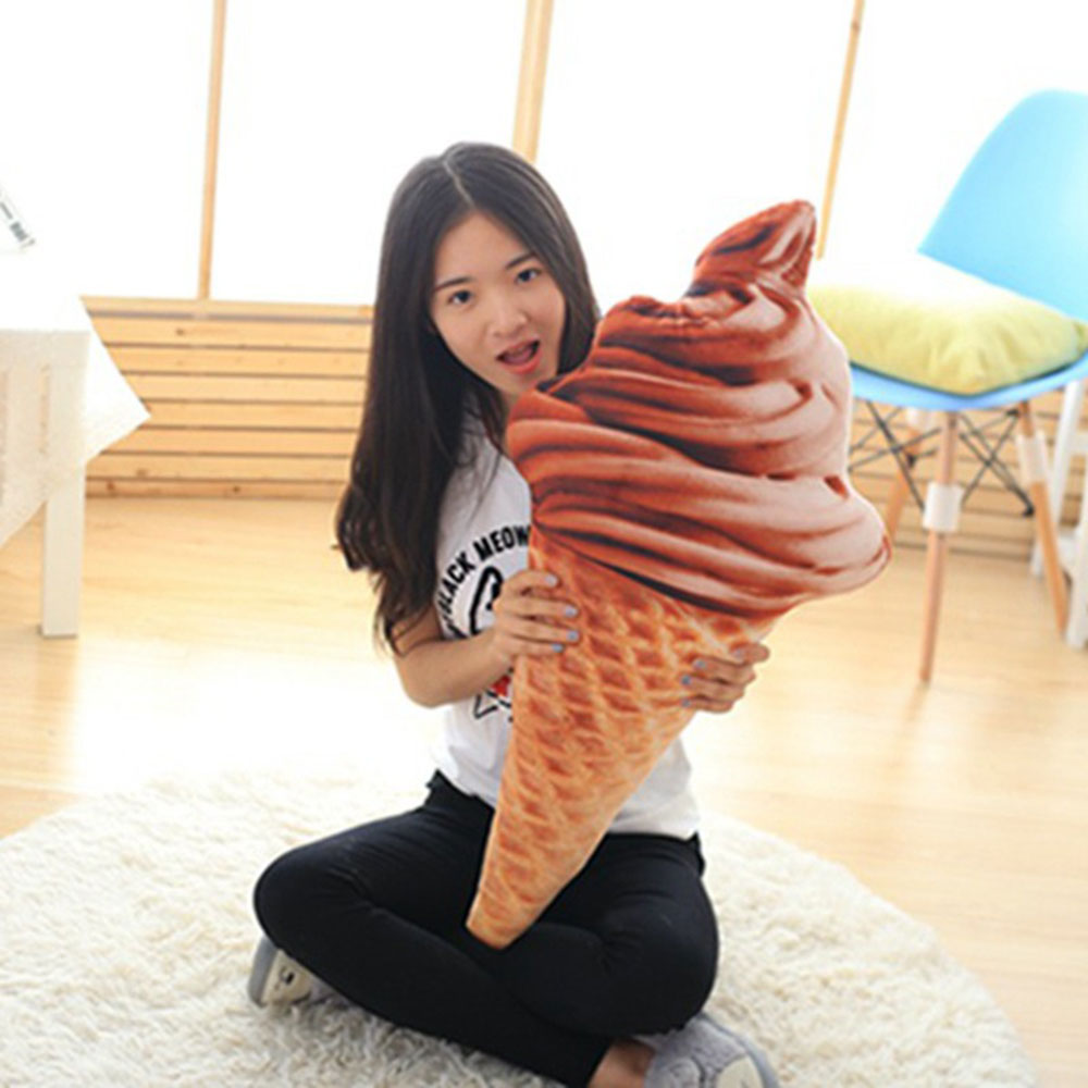 Gifts Waist Pillow Ice Cream Pillow Sweet Funny Ice Cream Cushion 4 Patterns Plush 30cm Office Cushion 3d Soft Doll