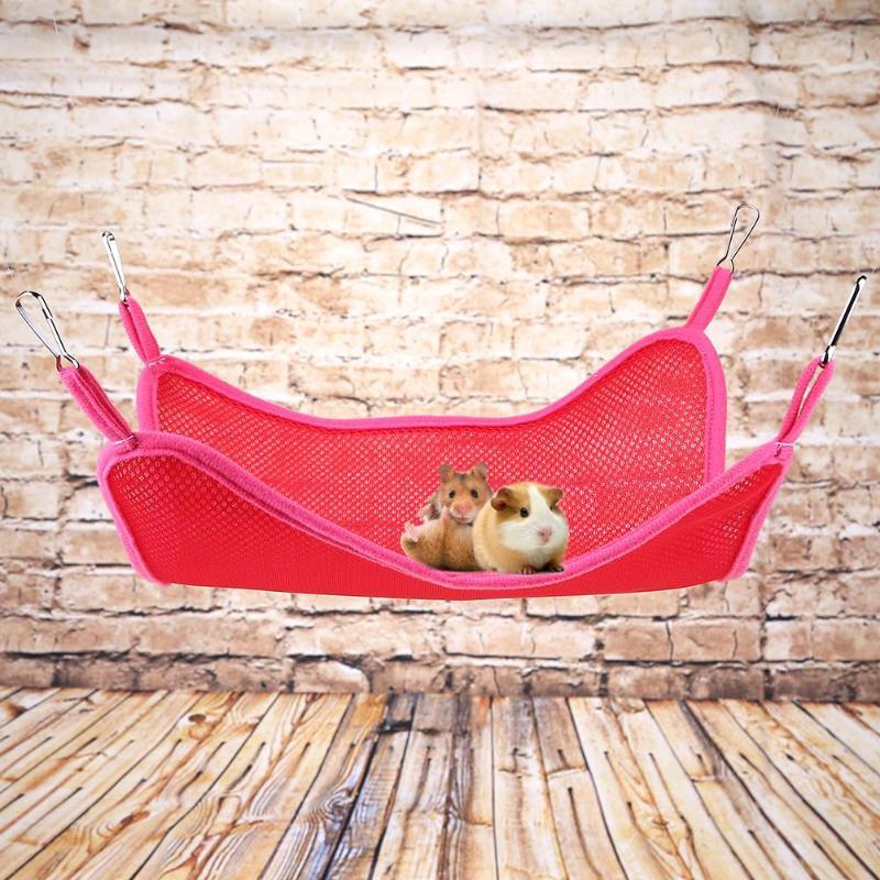 Лето домашнее животное гамак для хомячка попугай дышащие мат клетке аксессуары кошка хорьки Птица Висит Кровать Дом