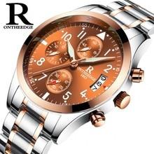 цена на Men Watch Men Quartz Wristwatch Luxury Stainless Steel Band Male Clock Wrist Waterproof Watch Auto Date Wristwatches Relojes
