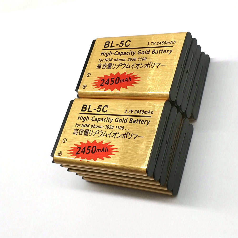 10 X New High Capacity 2450mAh BL-5C Battery For <font><b>Nokia</b></font> 1100 1101 1112 1200 1208 1209 1600 <font><b>1650</b></font> 2300 3100 E50 E60 N70 N71 N72 N91 image