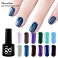 Verntion Long-lasting Lacquer 8ml Soak Off 3D Glitter Colors Gel Nail Polish Soak-off Nail LED UV Gel Varnishes Foil Adhesive