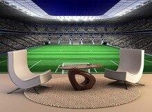 العرف خلفية الجداريات طلاء جدران ملعب كرة القدم الكبيرة مع أضواء ذاتية اللصق الفينيل الجدار ملصق ملصق