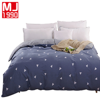 New Europe 100 Cotton Duvet Cover Twin Full Queen Size Printed Striped Grid Plaid Quilt Case