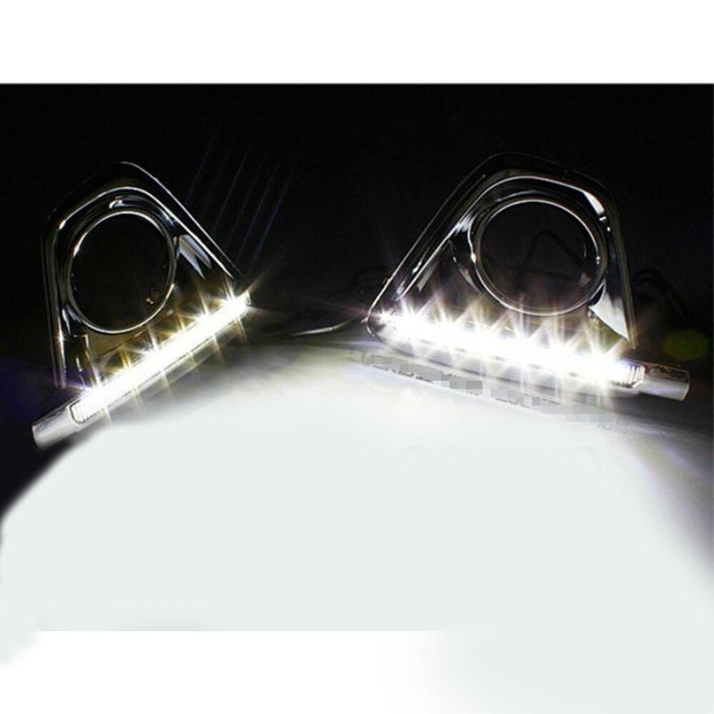 ФОТО For Mazda 2012 2013 2014 2015 2016 Cx-5 Cx5 LED Daytime Running Lights  with 12V 10W Cold White 6 LED 2pcs per set