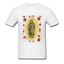 Virgin Mary Print Tops & Tees Summer Men Tee Shirts Mens Top Quality Cotton Clothing Vintage T Shirt Unique Design T-shirts