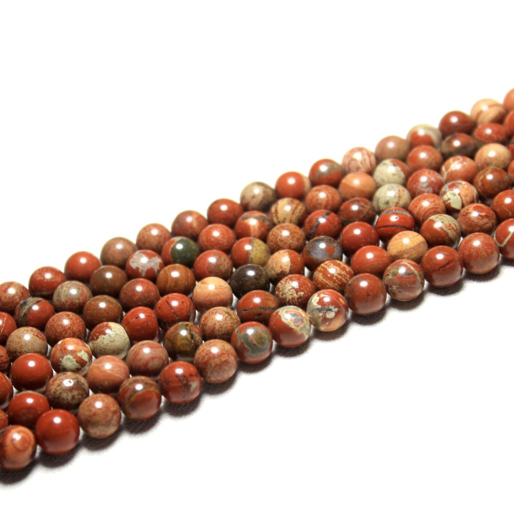 Beads & Jewelry Making Wholesale Aaa Natural Mix Color Pattern Red Stone Beads For Jewelry Making Diy Bracelet Material 6/8/10/12 Mm Strand 15