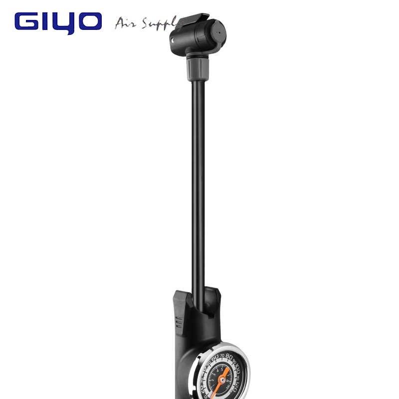 GIYO велосипедные насосы извлекаемый шланг велосипедный насос высокое давление ручной насос с измерительный мячик игла шин надувной воздушный велосипед велосипедный насос