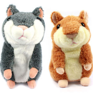 1 Pcs 17 CM Lovely Talking Hamster Plush Toy Cute Speak Talking Sound Record Hamster Talking Toys For Children Sale