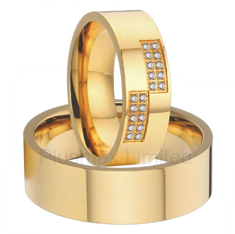Buy Various High Quality titanium steel jewelry alliances gold color wedding rings 2016 anel buy various high quality france design pure titanium wedding band rings jewelry for women