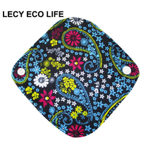 LECY ECO LIFE 1pc women reusable cloth menstrual pads with wings, organic bamboo inner mama pads pantyliner for light flow days