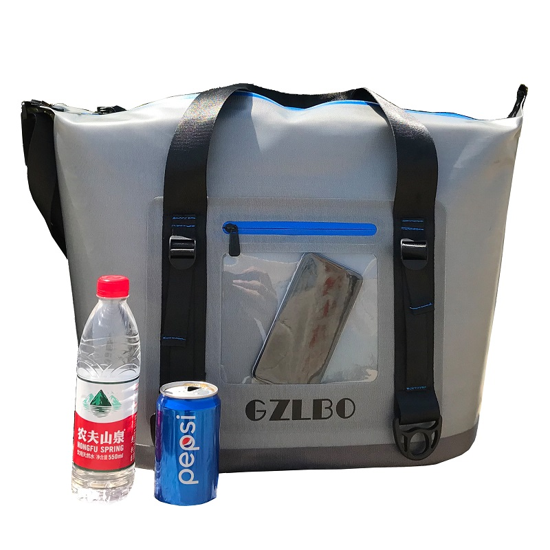 New 20can and 30can   grey cooler bag soft pack outdoor ice bagNew 20can and 30can   grey cooler bag soft pack outdoor ice bag