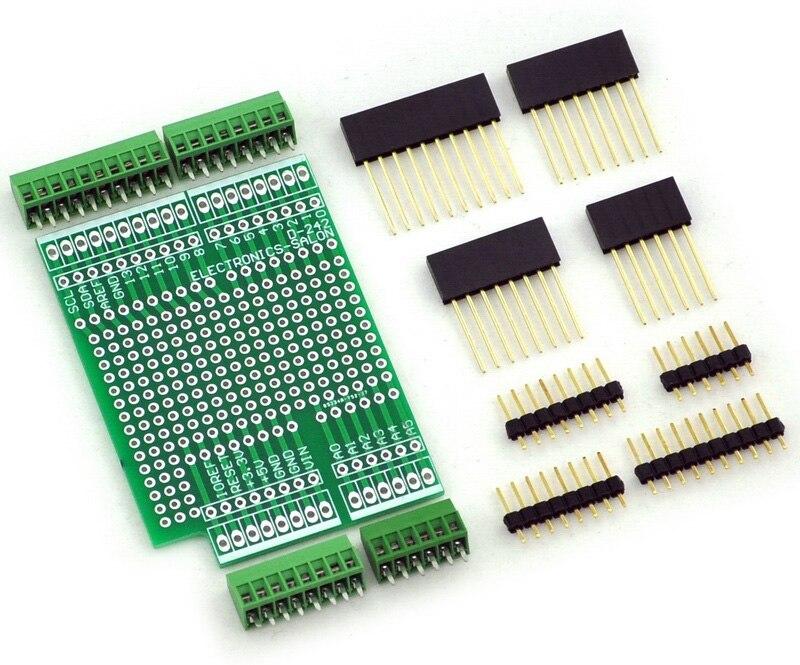 Prototype Screw Shield Board Kit For UNO R3, 0.1 Mini Terminal Block. uno shield ethernet shield w5100 r3 uno mega 2560 1280 328 unr r3 only w5100 development board for arduino