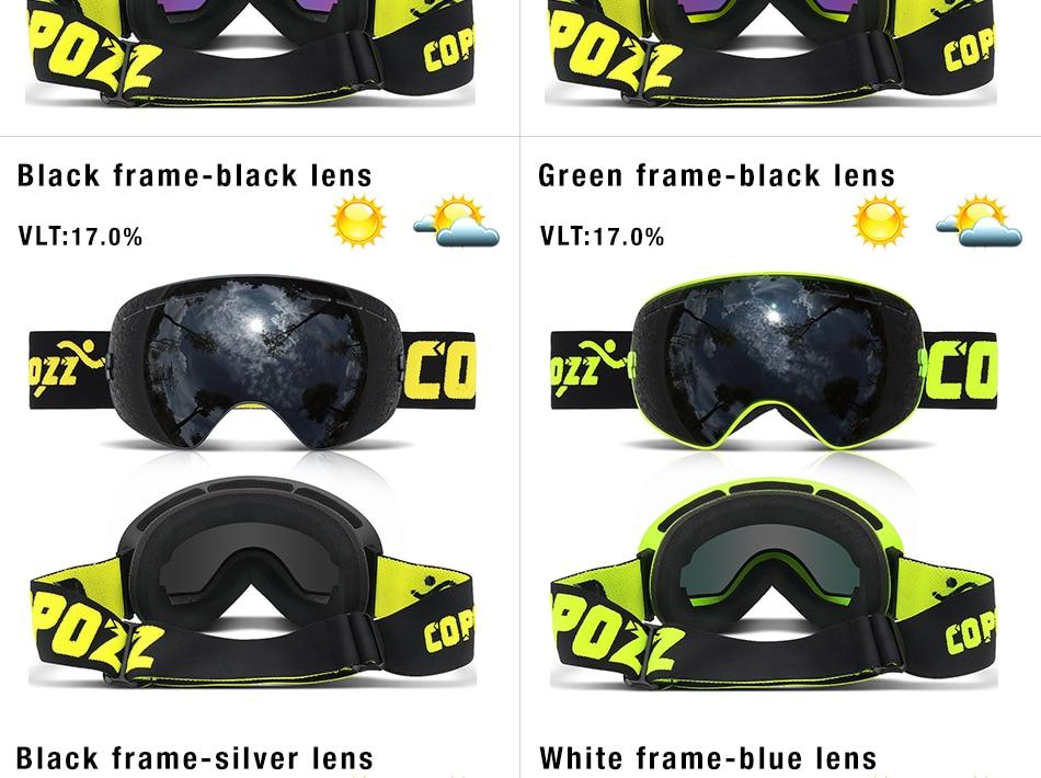 camada lente anti-nevoeiro uv400 grandes óculos de