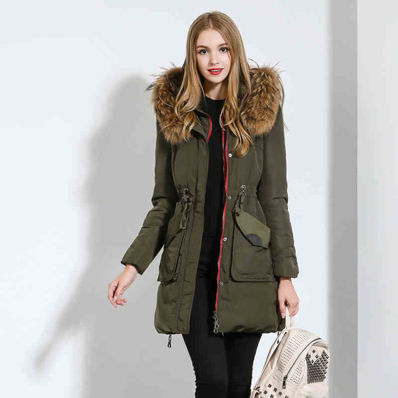 Green Fur Hooded Parka Coat Womens - Coat Racks