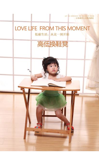 Eco Dobrável Crianças Laptop aprendizagem Mesa mesa mesas e cadeiras para Crianças mesa de Estudo da escrita