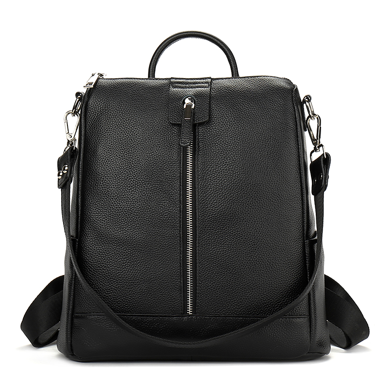 YILIAN Female Bag 2018 New Leather Backpack Double Shoulder Bag Lady Of Leisure Head Layer Cowhide Backpack 6106
