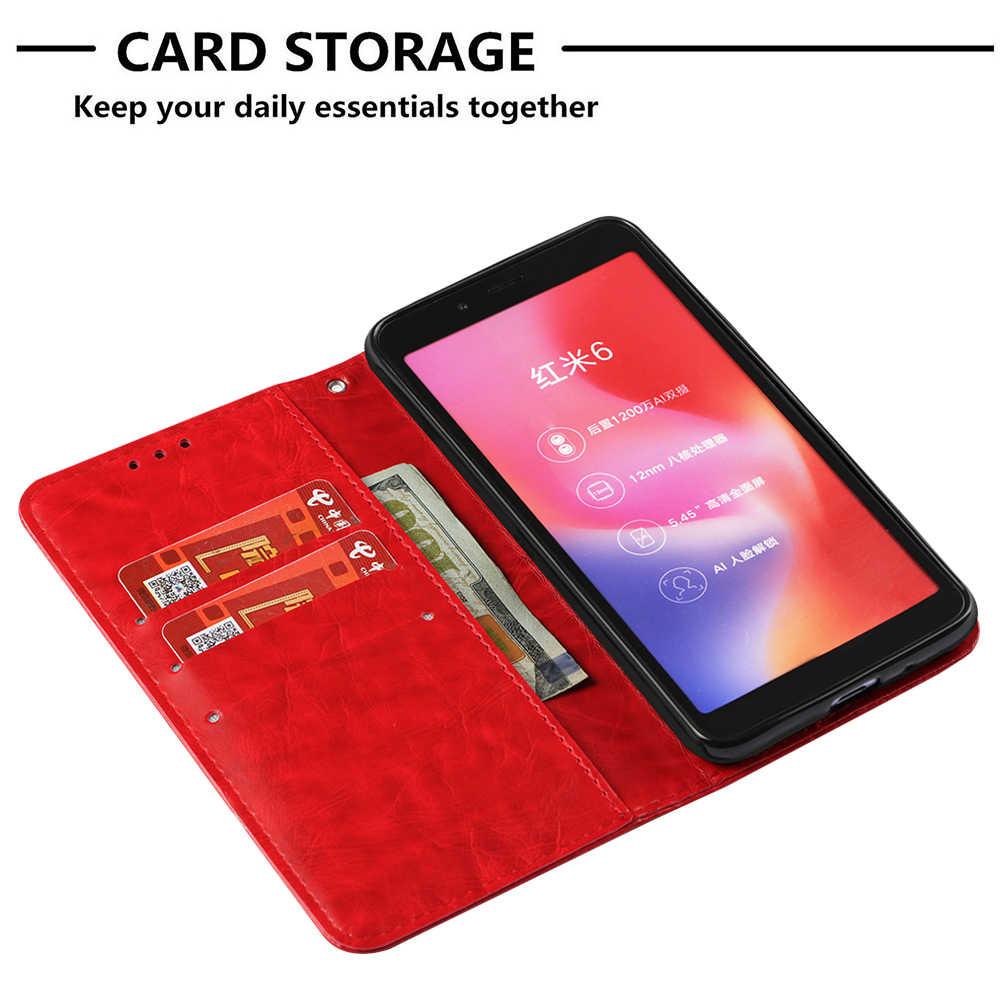 Чехол с откидной крышкой для Xiaomi Redmi 6 A Redmi6 кошелек кожаный чехол со слотом для карты чехол для телефона для Xiaomi Redmi 6A A6 Redmi6A M1804C3CH Капа
