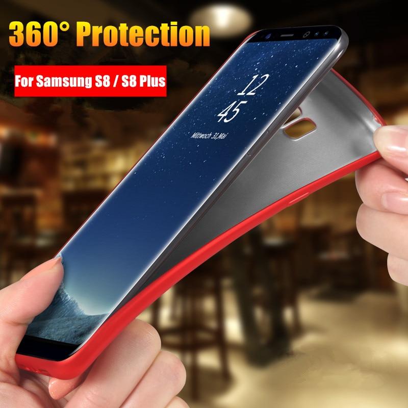 Мягкий чехол для Samsung S8/S9 Plus Чехлы Тонкий Вернуться защитить кожу ультра тонкий силиконовый чехол телефона для samsung Galaxy S8 плюс