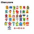 Números de Letras do alfabeto Numérico ABS Aprendendo Brinquedos Educativos Transformação Robot 5 cm 10 pçs/set 26 pçs/set Presentes Dos Miúdos 4001