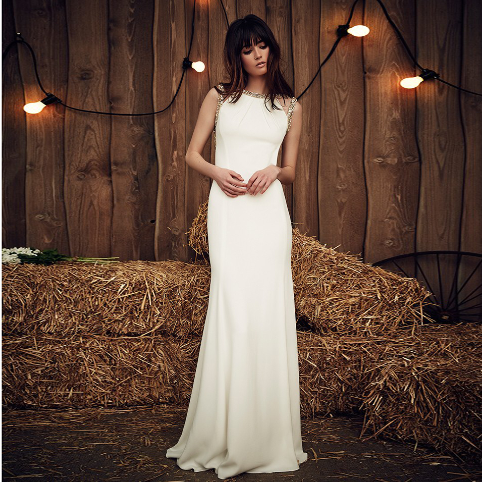 Popular simple wedding gown buy cheap simple wedding gown for Simple elegant wedding dress designers