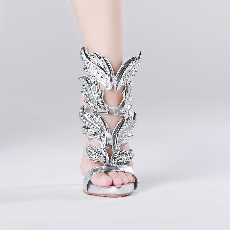 Or À Sandales Black silver Cheville Style Femmes gold Rome Pompes Sangle Cristal Qianruiti Boucle Hauts Argent Mince Chaussures Talons Clouté 5TqnzwgY