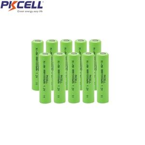 Image 1 - 10Pcs PKCELL Nimh AAA Batterie aaa 1000mah 1,2 V Batterien Flache Top Für Kamera Spielzeug