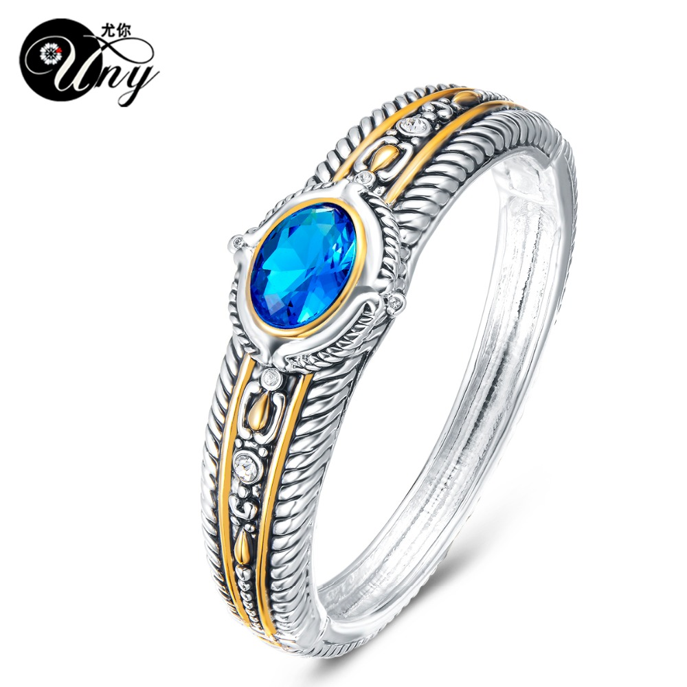 UNY Bangle Twisted Cable Wire Antique Box Clap Bangle Beautiful ...