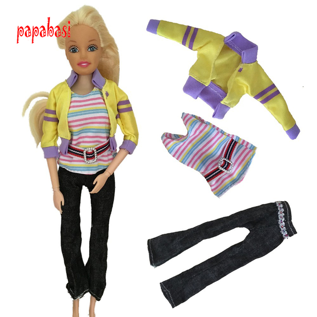 faf9c743d78 Doll Clothing 1 set T shirt+pants Clothes for 11 Joints 1 6 Doll ...