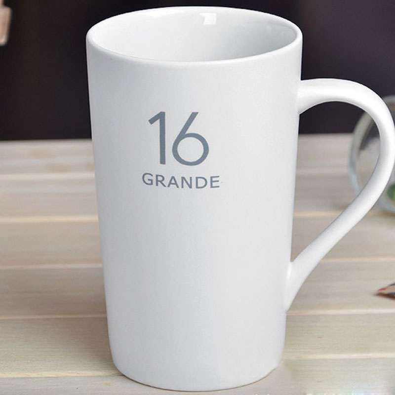 Brief Coffee Cup Solid Color Coffee <font><b>Mug</b></font> Matt White 3oz 12oz 16oz <font><b>20oz</b></font> for choice image