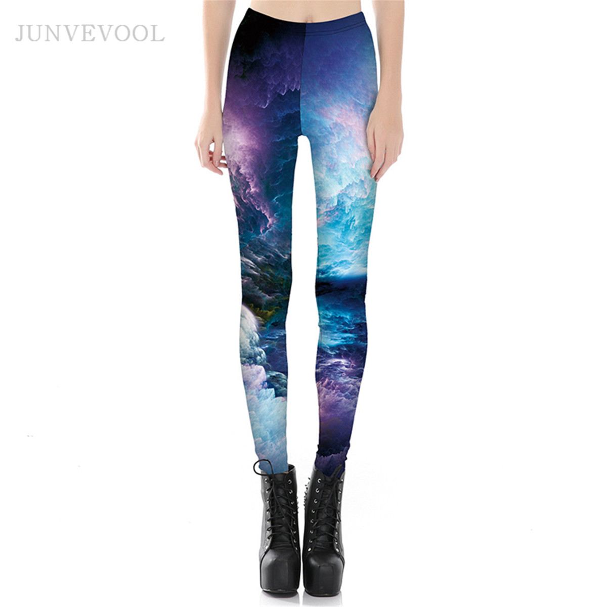 Splendid View Leggings Women Sunset Crop Leggins New Arrival Cloud Sea Digital Pant Ladies Gothic Fitness Rock Punk Sportswear