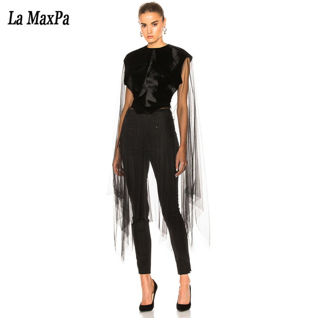 0072ee16fc5d 2017 Summer new women long sleeve o neck jumpsuit sexy bodycon hollow out  mesh evening party elegant black jumpsuits vestidos