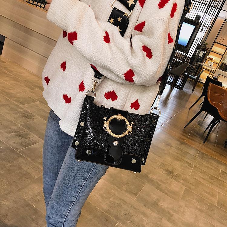 Women Patchwork Handbag Crossbody Bag Soft Leather Square Casual Ladies Chain Shoulder Girl Chain Messenger Satchel Bag louis 29