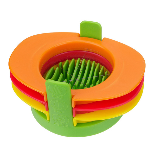 3 in 1 multifunctional egg slicer with fixed base