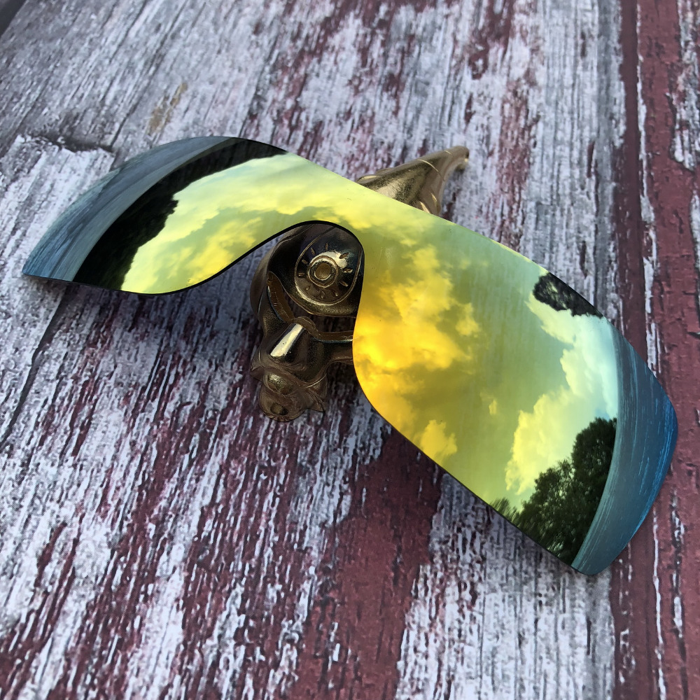 Wholesale Glintbay 100% Precise-Fit Polarized Replacement  Lenses For Oakley Batwolf Sunglass - 24K Golden Mirror