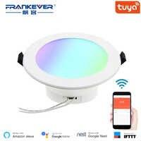 FRANKEVER 4 pollici Multicolor Funzione Completa di Smart LED Da Incasso Rotonda Da Incasso A Soffitto Luce del Punto 10 W di Controllo WiFi FK-DL101-RGBW