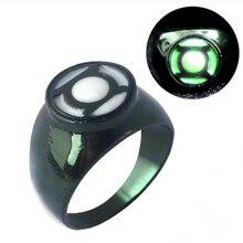 цены SG Hot Movie Superhero Green Lantern Hal Jordan Rings Iron Man Tony Stark Finger Luminous Rings Men Thanos Spilla Xmas Jewelry