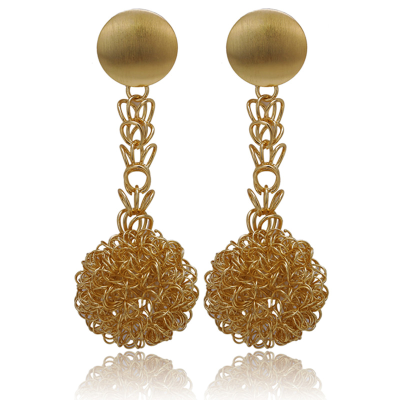 Gold-Color Earrings