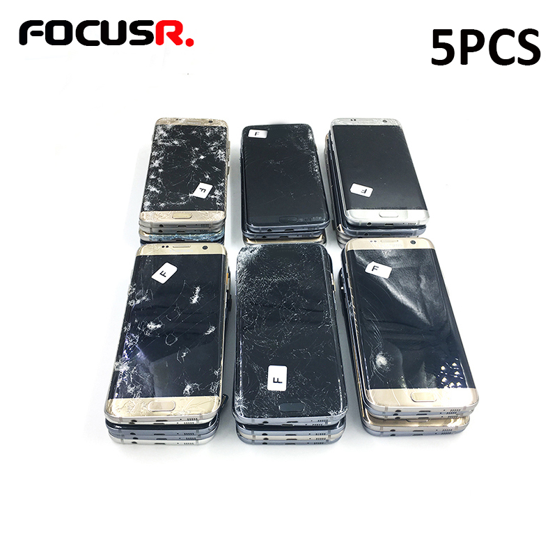 Mobile Phone Parts The Cheapest Price Practice Lcd Screen Assmebly For Samsung S7edge For Frame And Glass Separating Practice Touch Works Fine And Image With Defects Cellphones & Telecommunications