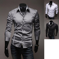 HoT 2016 Mens Fashion Cotton Diseñador Cross Line Slim Fit vestido de hombre Camisas Tops Casual Western XS Sml 8384