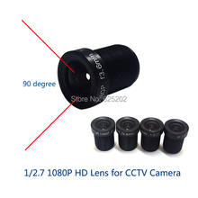 1/2.7 1080P 2.0MP M12 3.6mm Lens for CCTV Camera Board 2 pieces