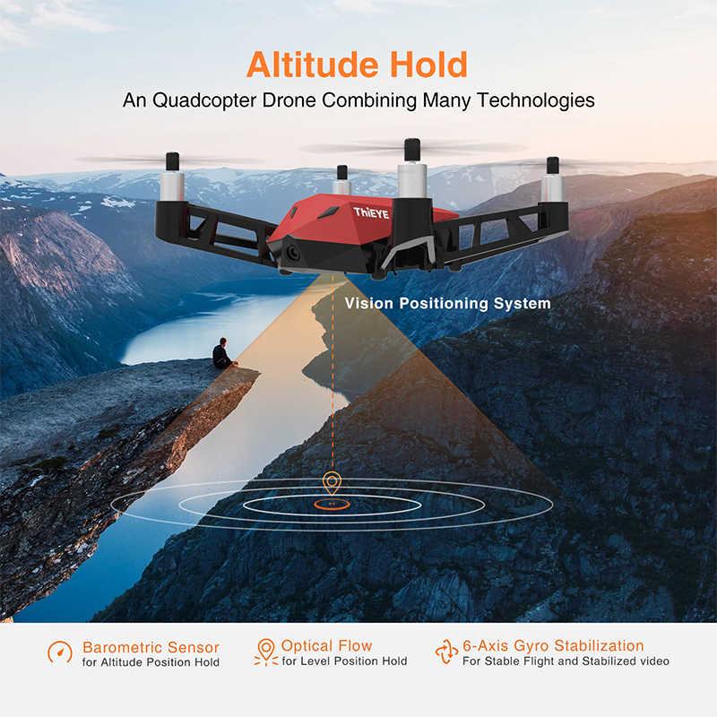 Миниатюрный Дрон с камерой HD 1080 P, приложение для радиоуправляемого квадрокоптера с высоким рычагом для стабильности полета, карманный Дрон