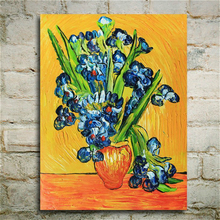 Hand Painted Van Gogh Paintings Irises Painting Reproduction on Canvas Wall Art for Home Decoration Beautiful Gift Housewarming