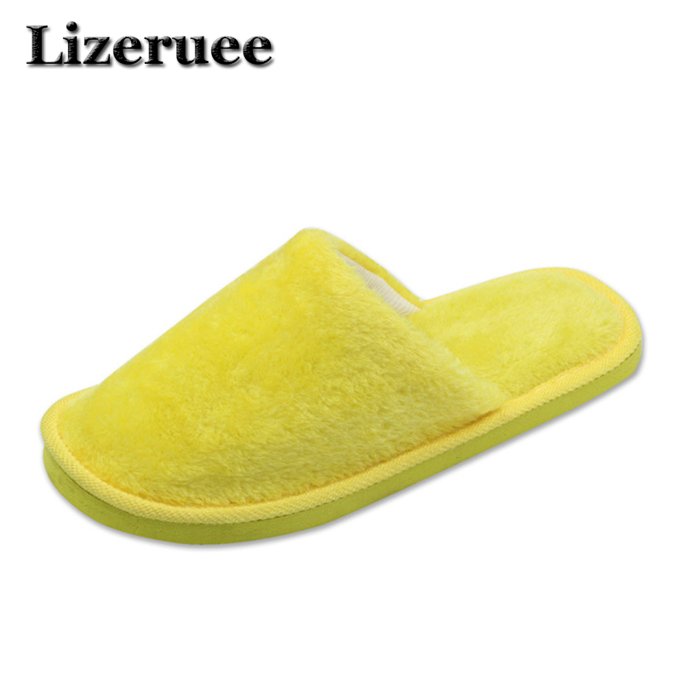 Candy color Warm Home Slippers Women Bedroom Winter Slippers  Indoor Slippers Cotton Floor Home Flax Shoes HS304 free shipping candy color women garden shoes breathable women beach shoes hsa21