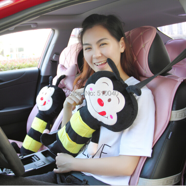 Free Shipping 40 New Child The Bees Seat Pets Car Seat Belt Pillow Best Pillow Pet Seat Belt Cover