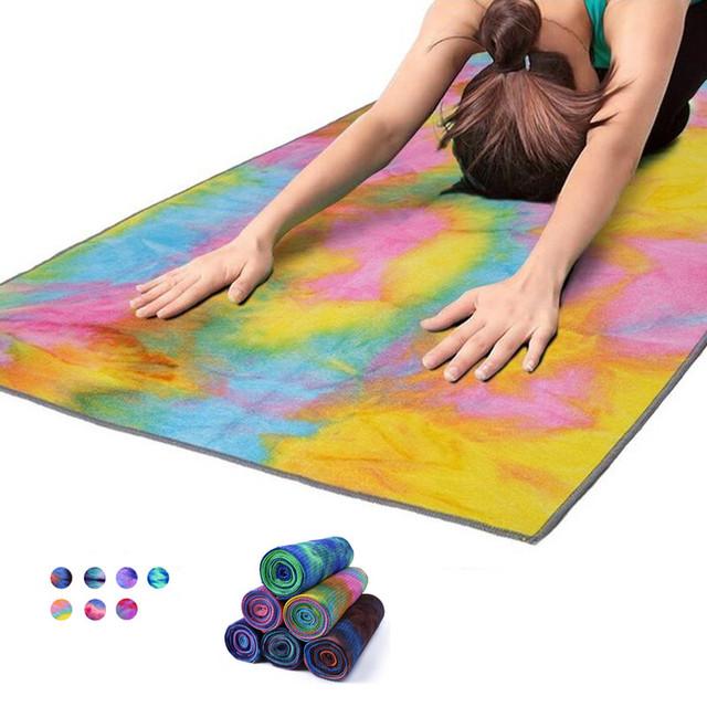 Yoga Mat Towel 183*63CM Non Slip Sweat Uptake Fitness Exercise Blanket Dance  Soft Blanket Pilates Yoga Towel Yoga Mats Cover
