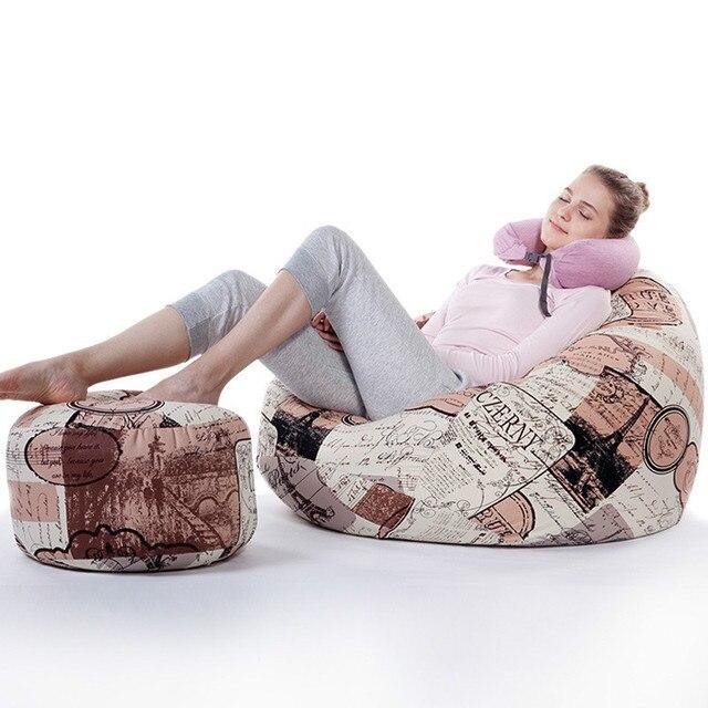 Large Size Tatami Beanbag Bean Chair Bean Bag Sofa Size 90*110cm With  Footstool
