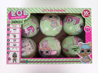 3pcs 6pcs LOL Series 2 Surprise Doll 7 Layers Action Figure Color Change Eggs Dress Up