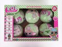 3pcs 6pcs LOL Series 2 Surprise Doll 7 Layers Action Figure Color Change Eggs Dress Up