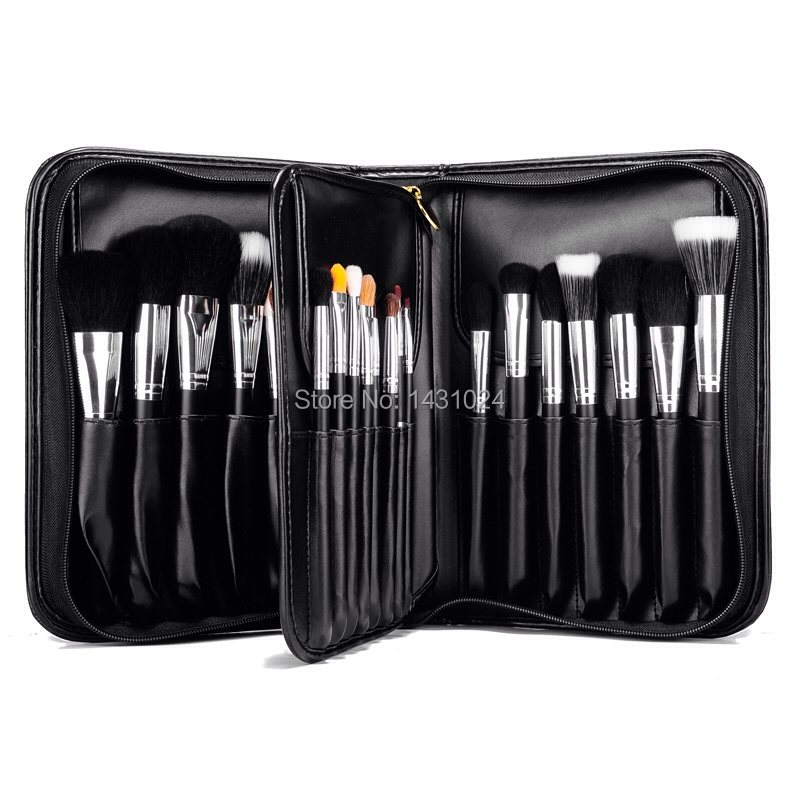 ФОТО High-End Quality Professional 29 pcs MC Kabuki Makeup Brush Case tools Csmetic Toiletry Kit Best Goat &Mink Hair Free Shipping