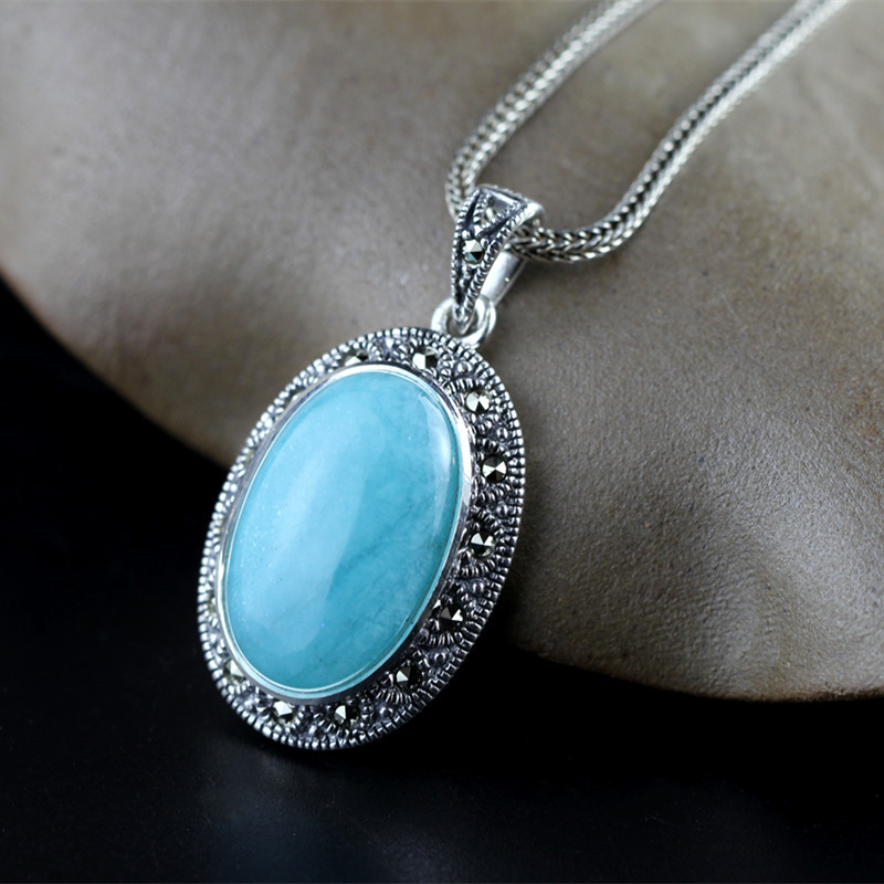 2019 Elegance Amazonie Pendant For Lady Authentic 925 Sterling Silver Gemstone Necklace Pendant For Anniversary Gift Jewels2019 Elegance Amazonie Pendant For Lady Authentic 925 Sterling Silver Gemstone Necklace Pendant For Anniversary Gift Jewels